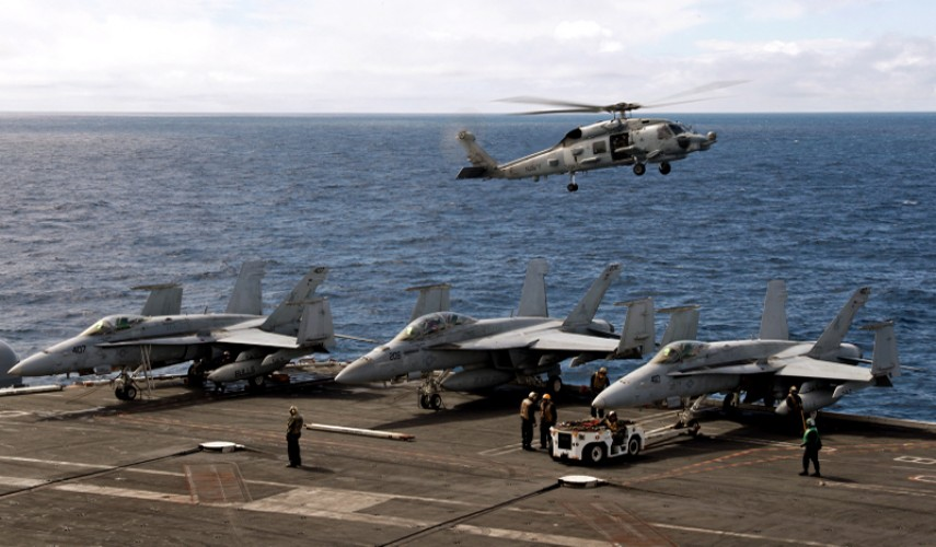 USS George HW Bush Exercise Saxon Warrior Planes