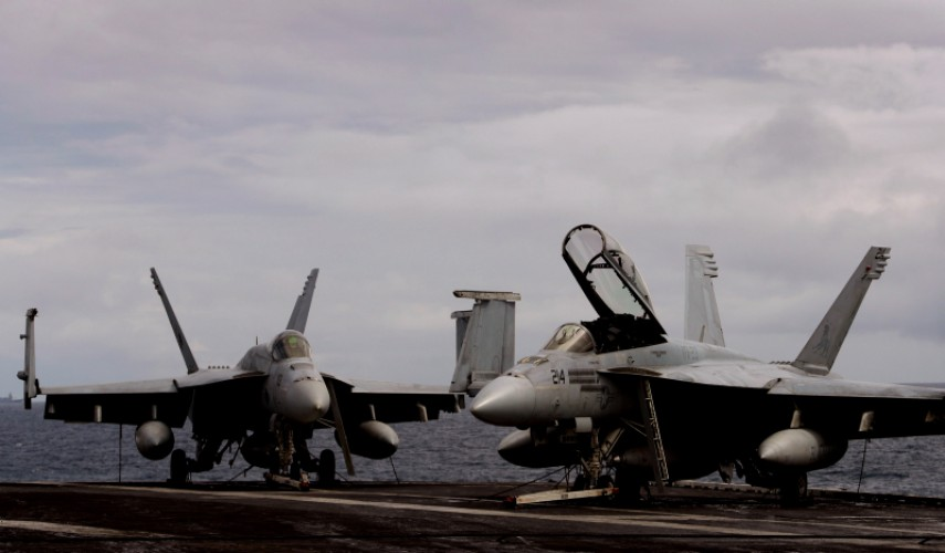 USS George HW Bush Exercise Saxon Warrior Aircrafts