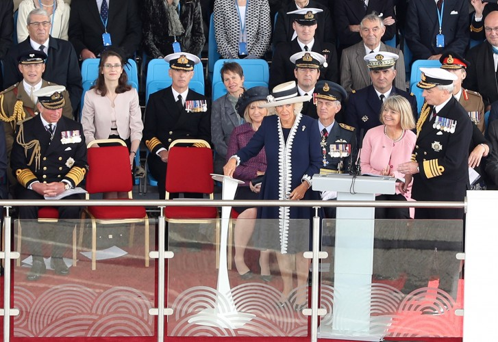 Her Royal Highness, The Duchess of Rothesay naming HMS PRINCE OF WALES