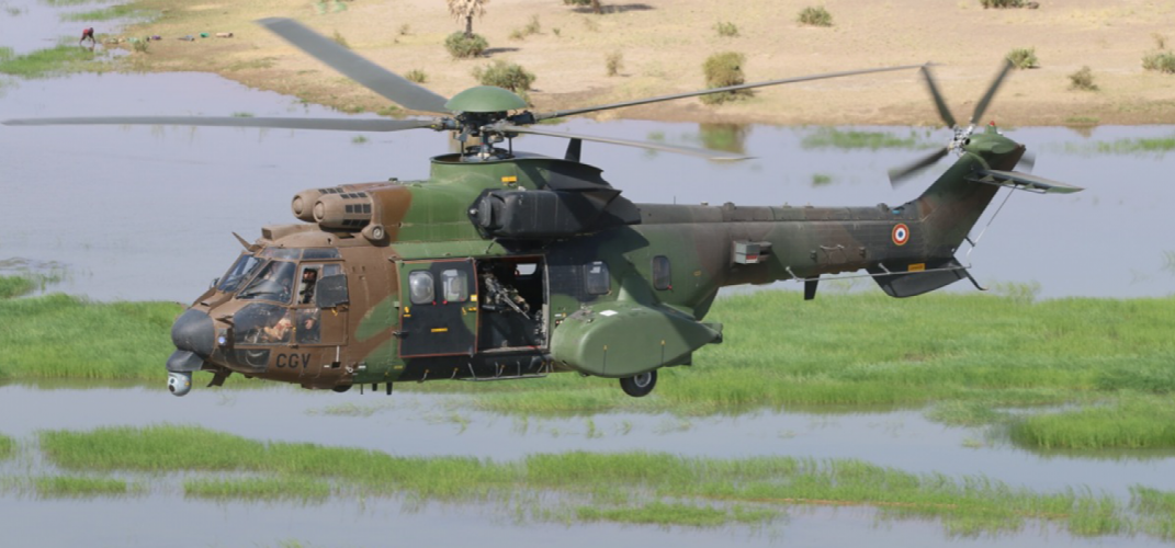 French Army  AS532 Cougar helicopter,