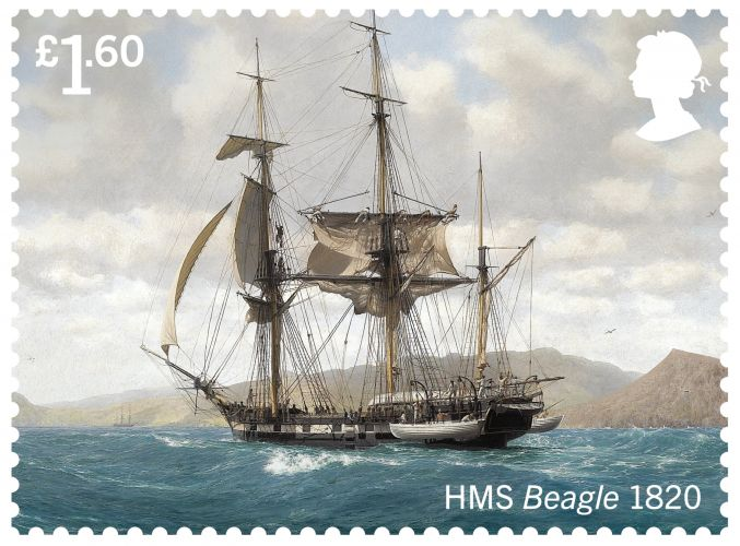 HMS Beagle (Picture: Royal Mail).