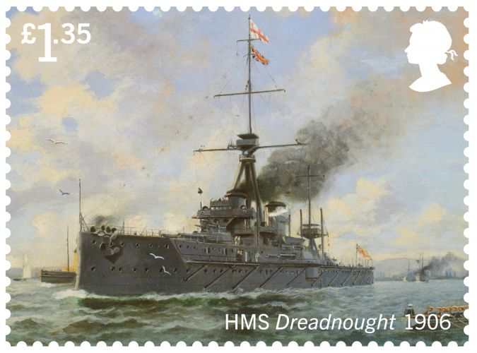 HMS Dreadnought (Picture: Royal Mail).
