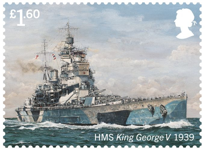 HMS King George (Picture: Royal Mail).