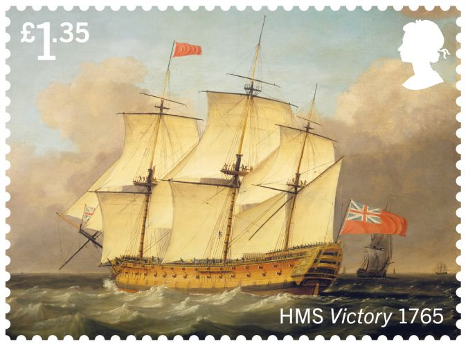 HMS Victory (Picture: Royal Mail).
