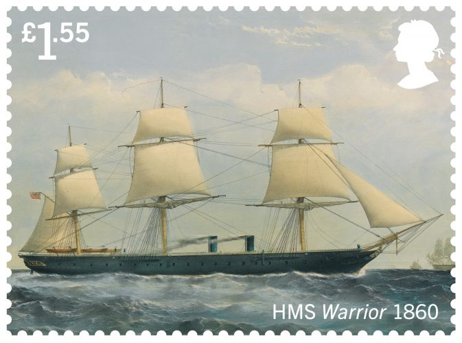 HMS Warrior (Picture: Royal Mail).