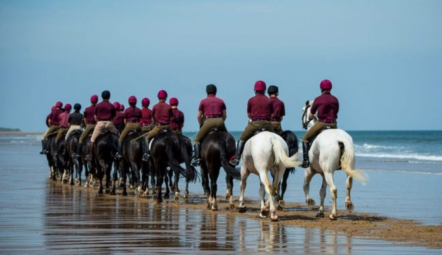 Household Cavalry on the beach in Norfolk - behind shot 050719 Credit MOD.jpg