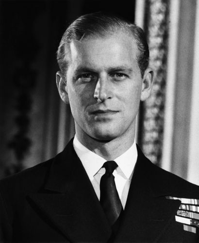The then-Lieutenant Philip Mountbatten, in Royal Navy uniform in 1947 (Picture: Everett Collection/Alamy).