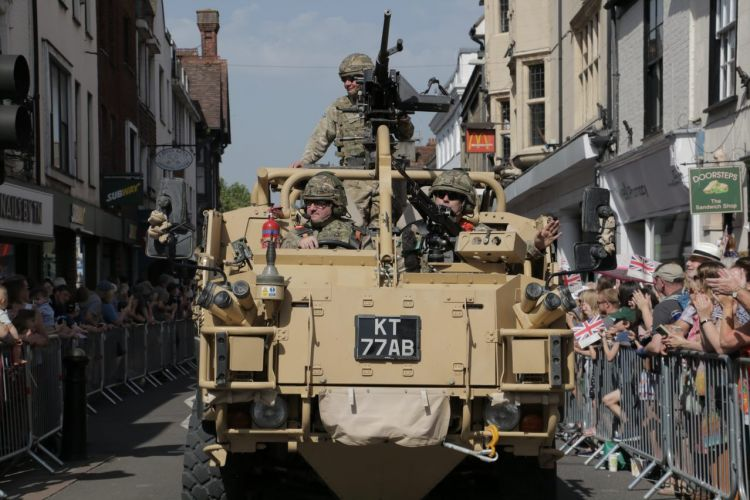 Military vehicle on Salisbury Armed Forces Day