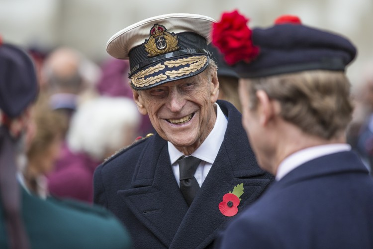 Prince Philip chats with veterans during the Field of Remembrance at Westminster Abbey, November 2015 (Picture: Crown Copyright).
