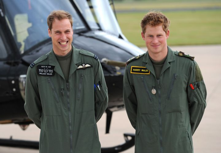 Prince William And Prince Harry Army Air Corps 2009