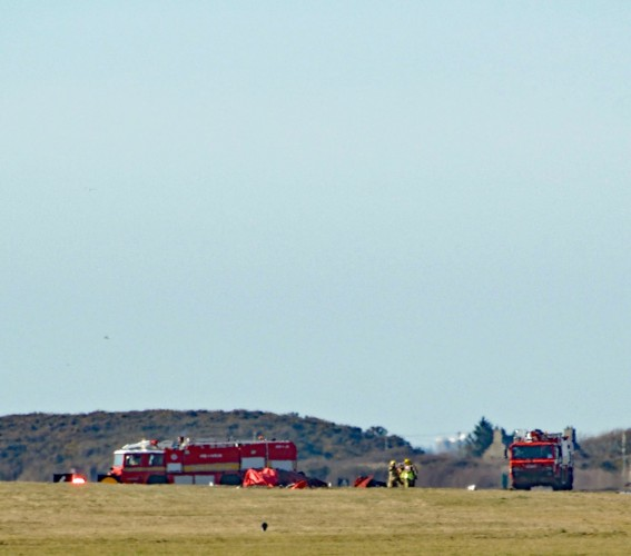 Red Arrow Crash RAF Valley [Picture - David Robert Jones]