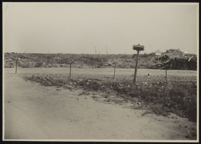 damaged Belgian countryside shown after World War 1
