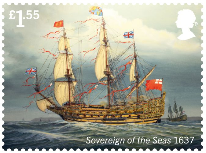 Sovereign of the Seas (Picture: Royal Mail).