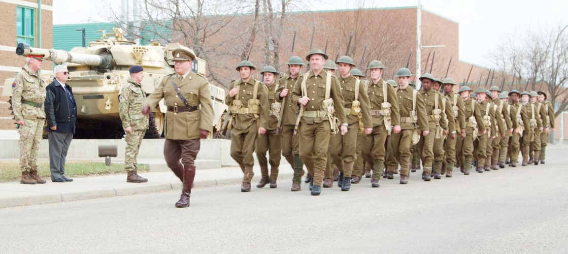 #Vimy100: The Battle Of Vimy Ridge commemorative march begins at the Canadian Forces Base, Suffield