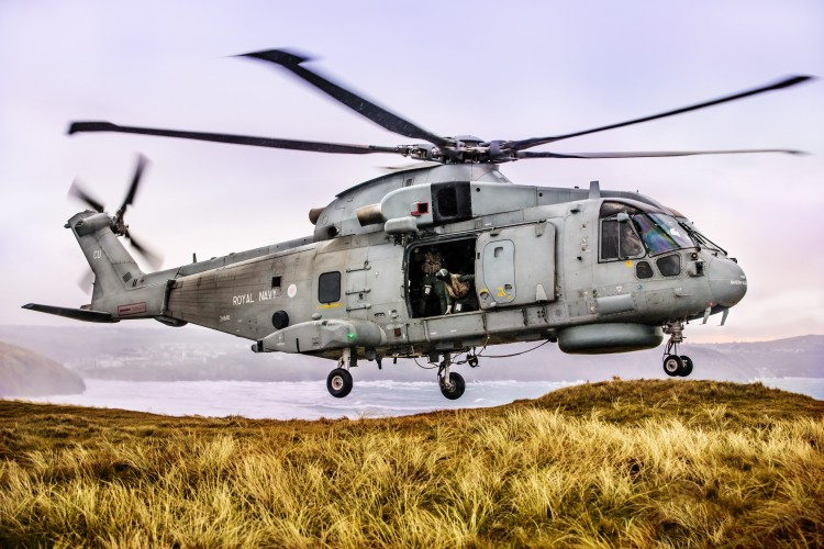 Pictured Are 820 Naval Air Squadron Making The Most Of Cornish Landscape To Hone Their
