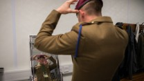 Private O'Brien adjusts his beret