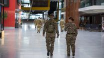 Soldiers from 1 Anglian Regiment arrive at the ExCel Centre in London (Picture: MOD).