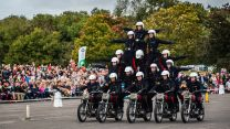 Royal Signals Motor Cycle Display Team White Helmets Final Performance Blandford Dorset Defence Imagery