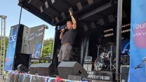Barry Castagnola on stage at RAF Marham's Friends & Families Day Concert 2018