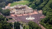 Buckingham Palace and the Mall during the Queens 90th Birthday Celebrations 2016 Defence Imagery