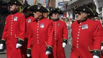 Chelsea pensioners in Salisbury Armed Forces Day parade