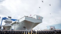 HMS PRINCE OF WALES naming ceremony in Rosyth, Scotland