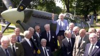 Dame Vera Lynn by Spitfire with Battle of Britain Fighter Association members