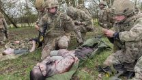 First aid was one of the skills practiced on the exercise (Picture: MOD).