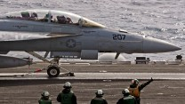 USS George HW Bush Exercise Saxon Warrior Aircraft Landing