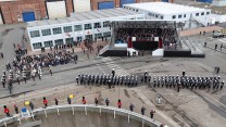 Celebrations at the naming of HMS PRINCE OF WALES