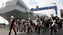 Celebrations at the naming ceremony of HMS PRINCE OF WALES