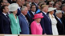 The Queen alongside Prince Charles and US President Donald Trump for D-Day 75 commemorations on Southsea Common (Picture: MOD).