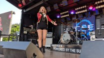 Katy Ellis as Taylor Swift for CSE at RAF Marham Friends & Families Day Concert 2018