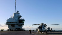 FIRST NAVAL AIR SQUADRON EMBARKS IN ROYAL NAVY'S NEW AIRCRAFT CARRIER HMS QUEEN ELIZABETH