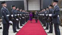 The Queen is welcomed to RAF Marham by a Royal Guard of Honour in February 2018 (Picture: RAF).