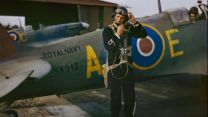 Sub-Lieutenant Harold Salisbury prepares for a sortie in Supermarine Seafire Mk lb NX942 'AC-E' of 736 Naval Air Squadron at RNAS Yeovilton, September 1943 (Picture: IWM).