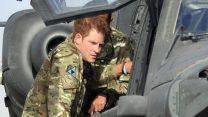 Prince Harry with Apache Army Air Corps CREDIT ARMY MOD
