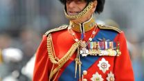 Prince Philip wearing bearskin as Colonel of Grenadier Guards at 2011 Trooping the Colour
