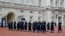 Sailors outside Buckingham Palace during Changing of the Guard (Picture: Royal Navy).