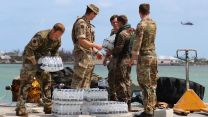 Soldiers from the Humanitarian and Disaster Relief team from RFA Mounts Bay provide assistance in Great Abaco, Bahamas, after Hurricane Dorian CREDIT MOD 040919
