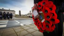 A wreath in focus at HMNB Devonport (Picture: Royal Navy).