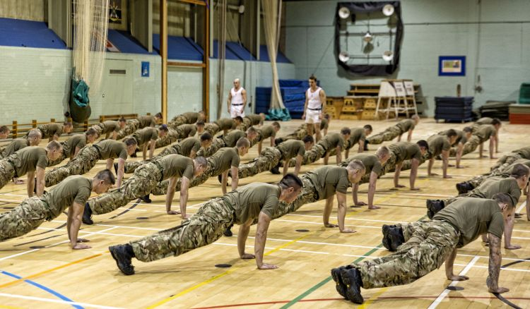 Physical tests for the Royal Marines are gender-neutral. Credit: Richard White, Crown Copyright