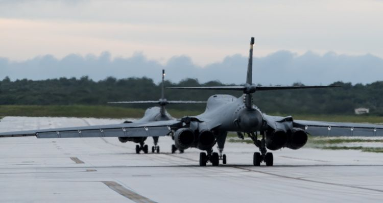 United States  bombers fly over Korean Peninsula in 1st night joint training drills