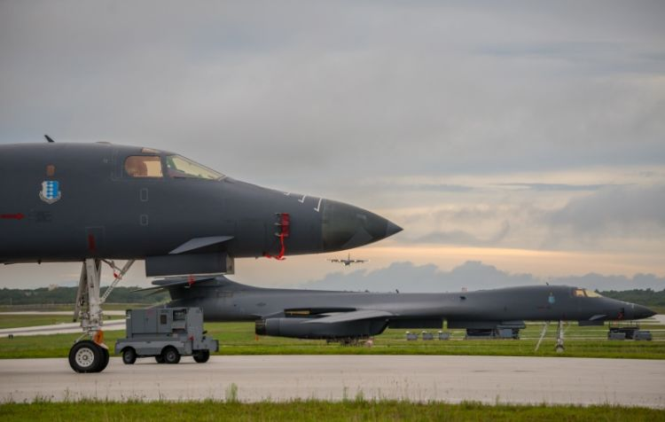 USA  bombers fly over Korean Peninsula in 1st night joint training drills