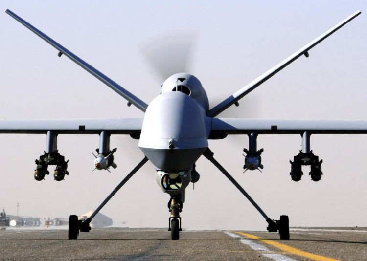 RAF Reapers have been used in the airstrikes (Picture: MoD).
