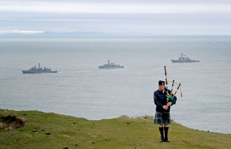 Funeral of the victims of the Otranto at Kilchoman on Islay (PA)