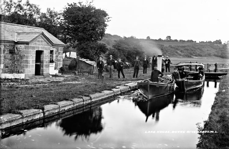 1865 - 1914 Boyne Valley Lake House, Boyne Valley, Co. Louth near Rossnaree by National Library of Ireland