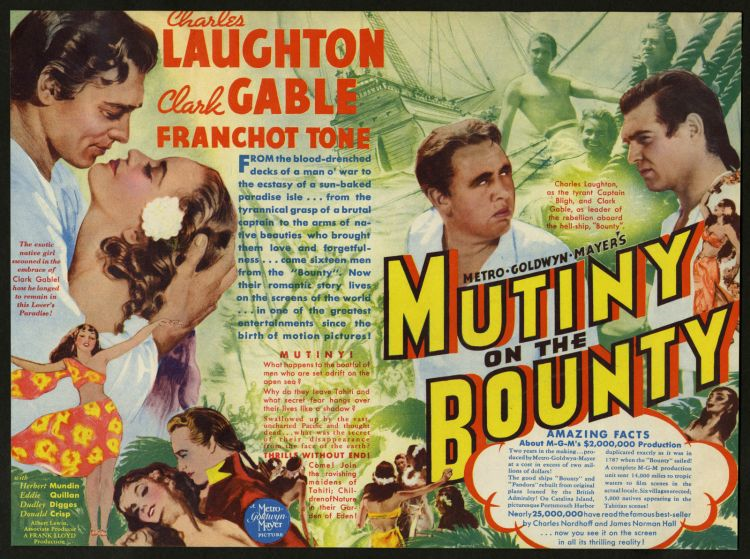 1935 Mutiny on the Bounty poster