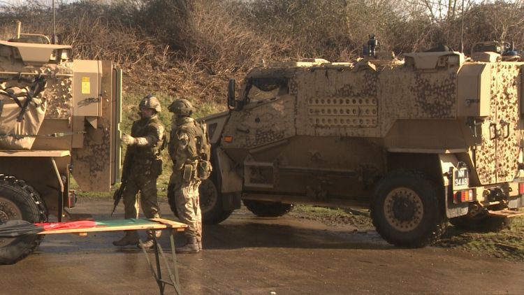 2 RIFLES and 4 SCOTS at Mission Training and Mobilisation Centre 270220 CREDIT BFBS