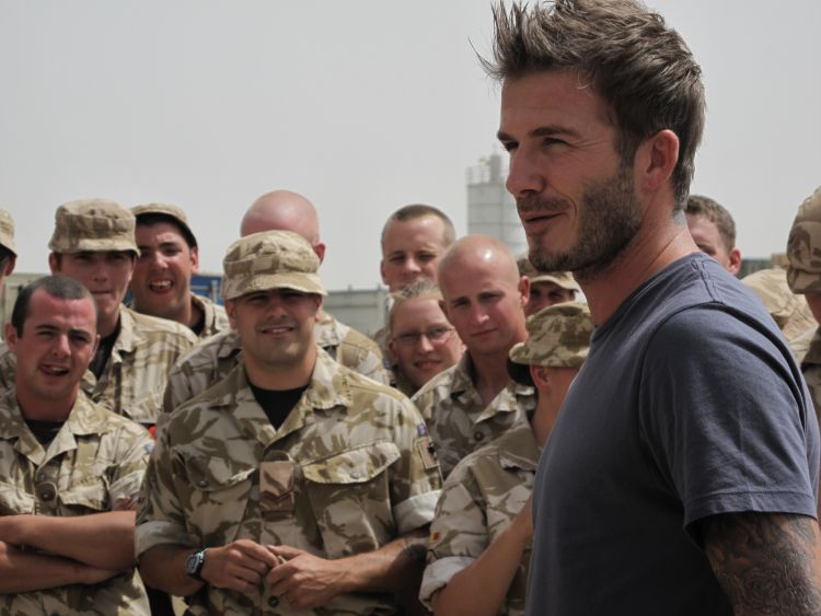 David Beckham in Afghanistan 2010